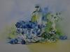 Aquarel blauwe bessen (Verkocht)