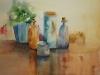 Aquarel glas-en-busje
