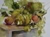 herfstilleven met pompoen -aquarel