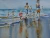 Aquarel strandplezier