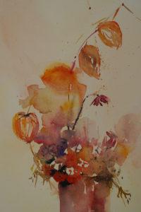 aquarel in opdracht met o.i.inkt - Joke Klootwijk (Verkocht)