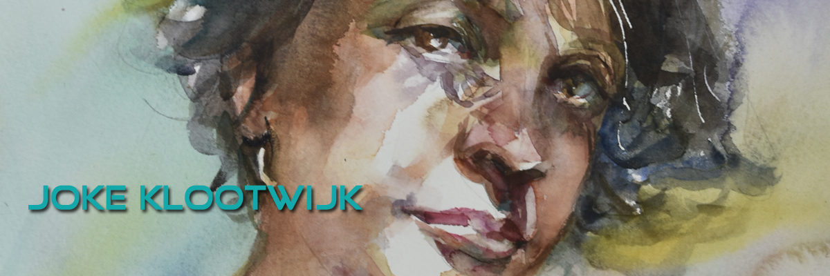"Aquarel ""Portret studie VI"""